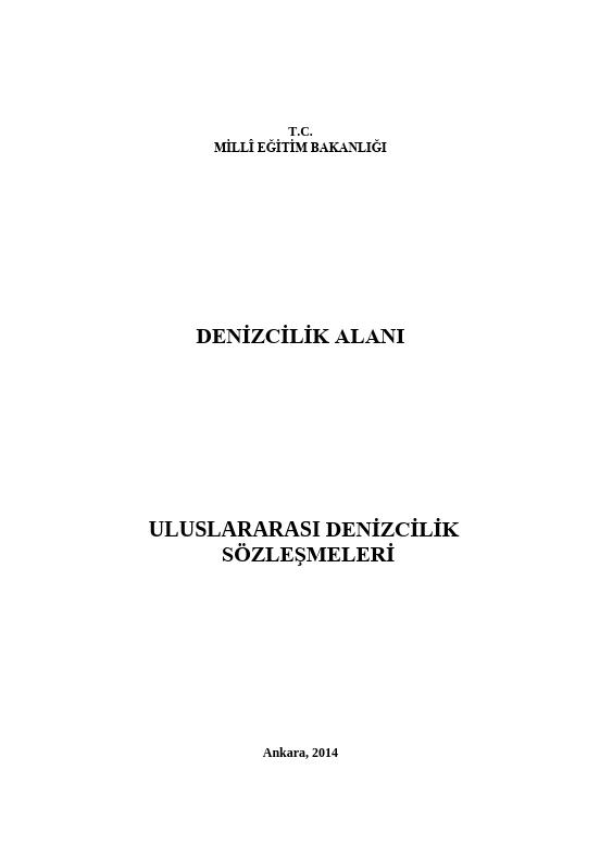Uluslararası Denizcilik Sözleşmeleri ders notu pdf