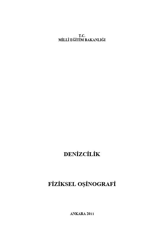 Fiziksel Oşinografi ders notu pdf