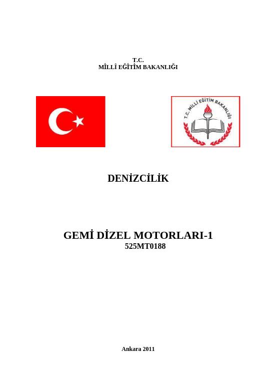 Gemi Dizel Motorları 1 ders notu pdf