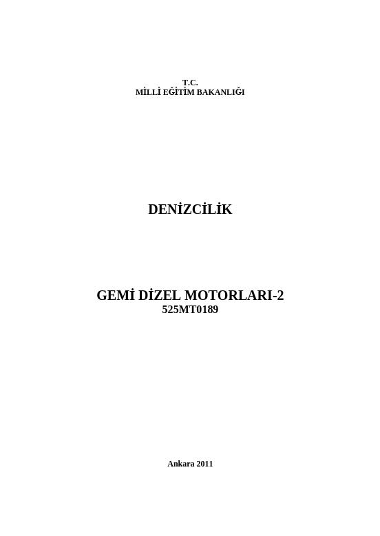 Gemi Dizel Motorları 2 ders notu pdf