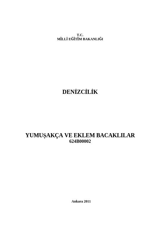 Yumuşakça Ve Eklem Bacaklılar ders notu pdf