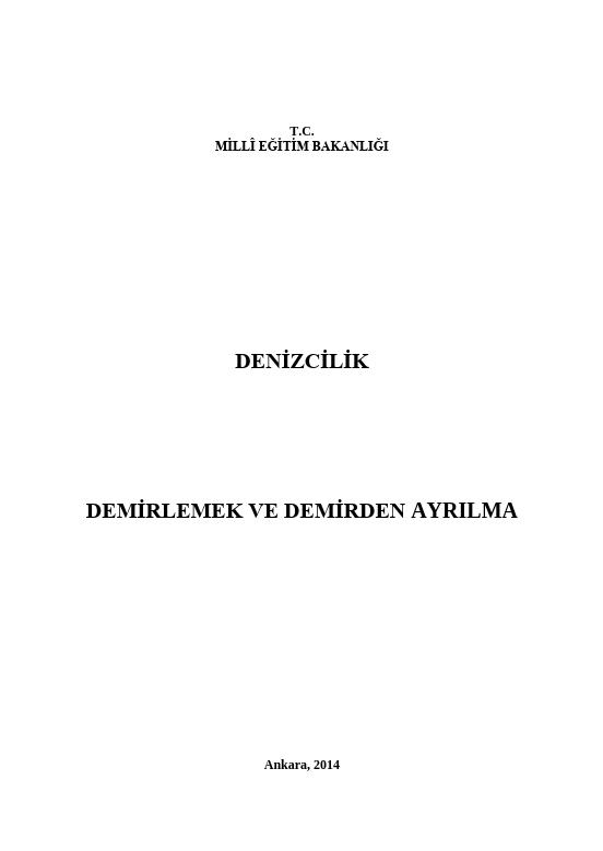 Demirlemek Ve Demirden Ayrılma ders notu pdf