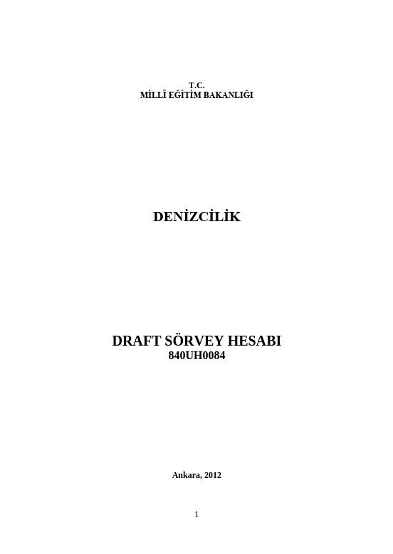Draft Sörvey Hesabı ders notu pdf