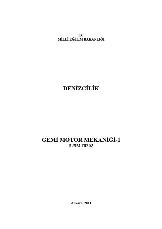 Gemi Motor Mekaniği1