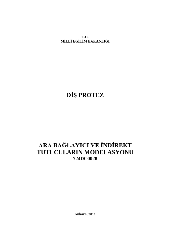 Ara Bağlayıcı Ve Indirekt Tutuculatın Modelasyonu ders notu pdf