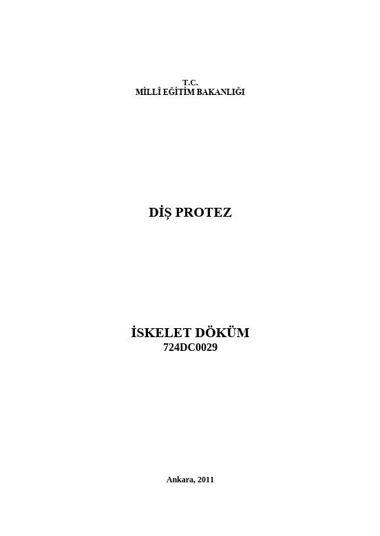 İskelet Döküm ders notu pdf