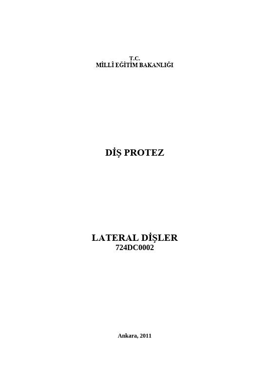 Lateral Dişler