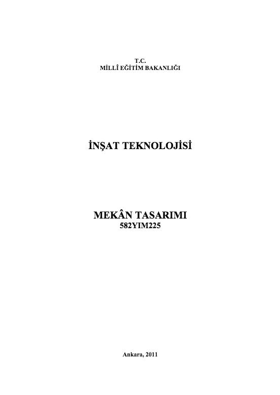 Mekân Tasarımı ders notu pdf
