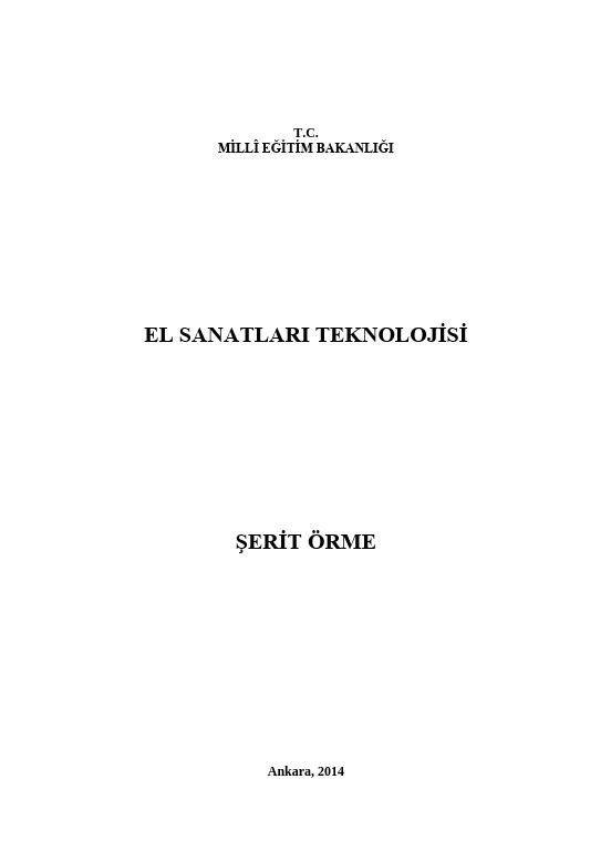 Şerit Örme ders notu pdf