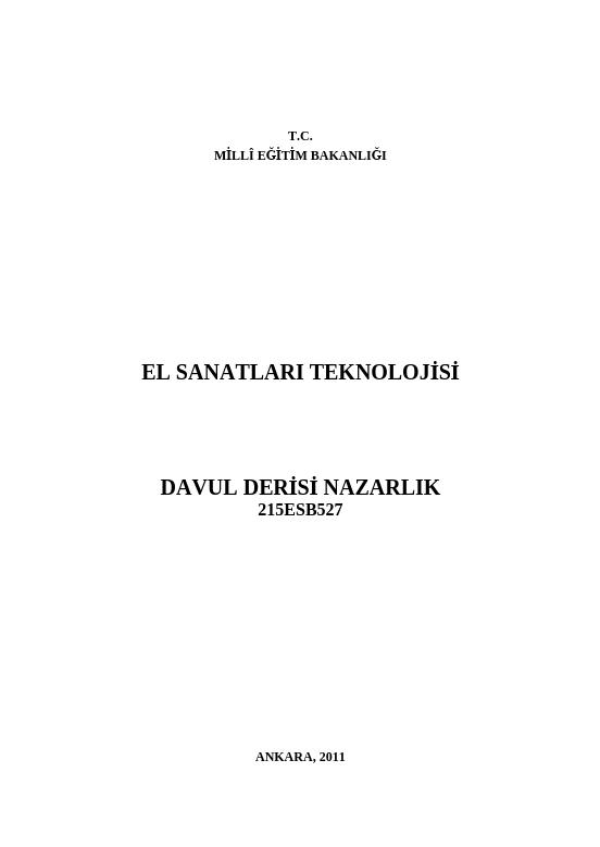 Davul Derisi Nazarlık ders notu pdf