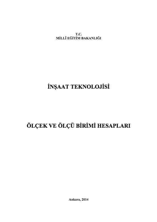 Ölçek Ve Ölçü Birimi Hesapları ders notu pdf