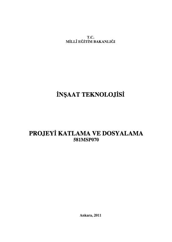 Projeyi Katlama Ve Dosyalama