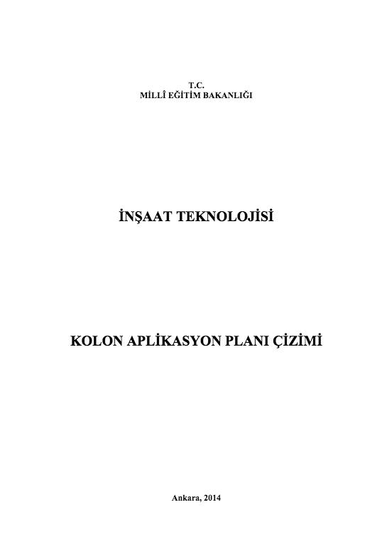 Kolon Aplikasyon Planı Çizimi ders notu pdf
