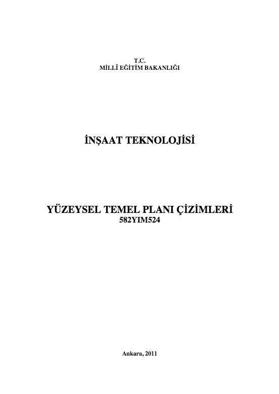Yüzeysel Temel Planı Çizimleri ders notu pdf