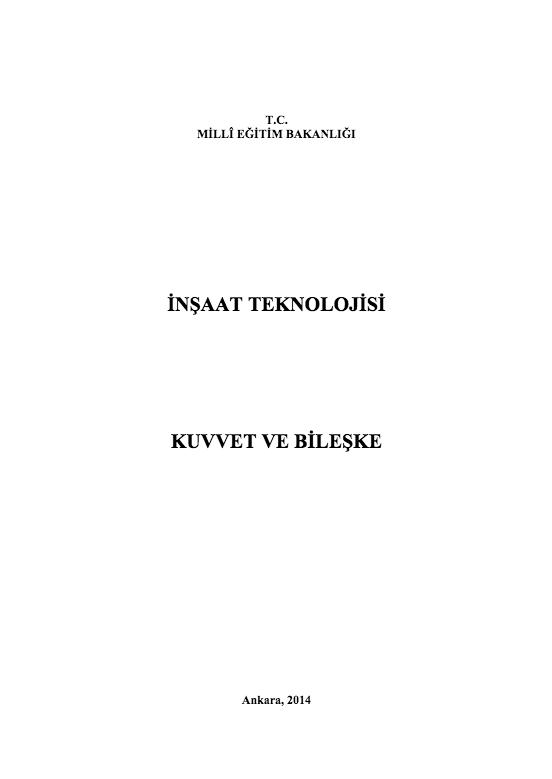 Kuvvet Ve Bileşke ders notu pdf