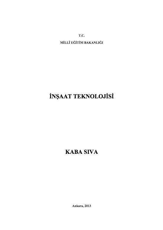 Kaba Sıva ders notu pdf