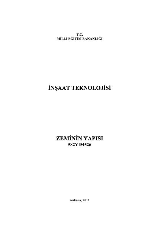 Zeminin Yapısı ders notu pdf