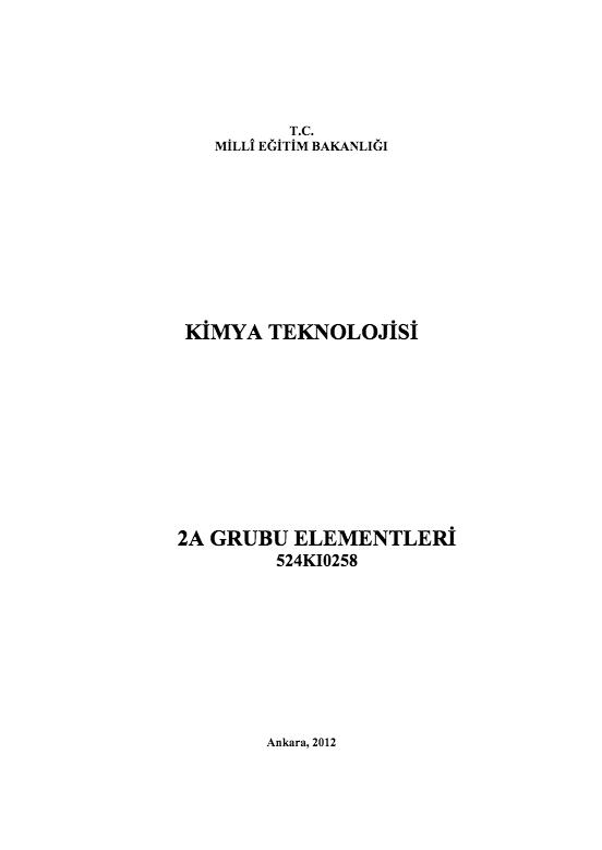 2 A Grubu Elementleri ders notu pdf