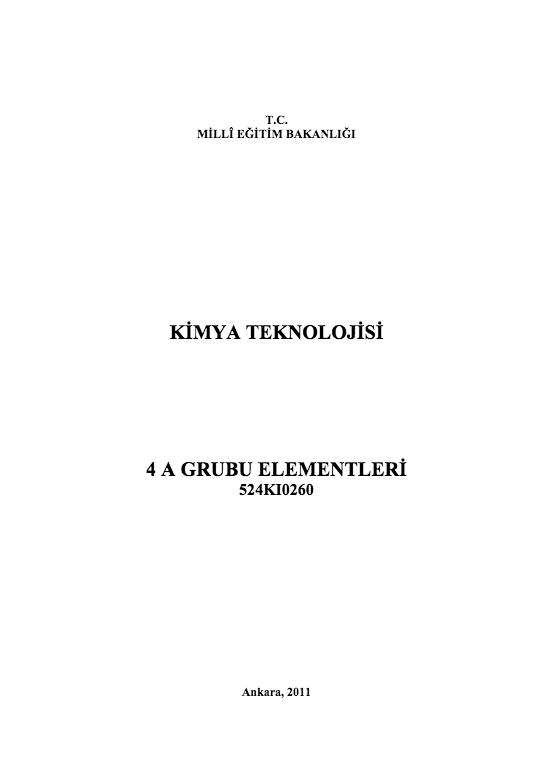 4 A Grubu Elementleri ders notu pdf