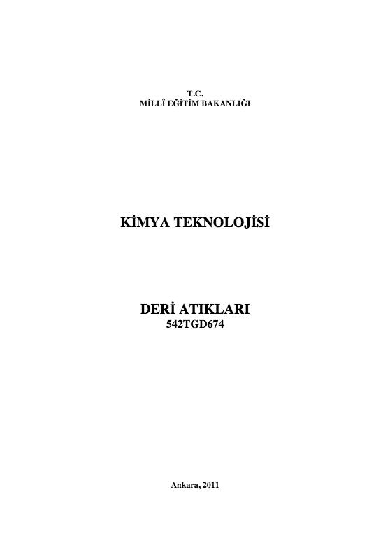 Deri Atıkları ders notu pdf