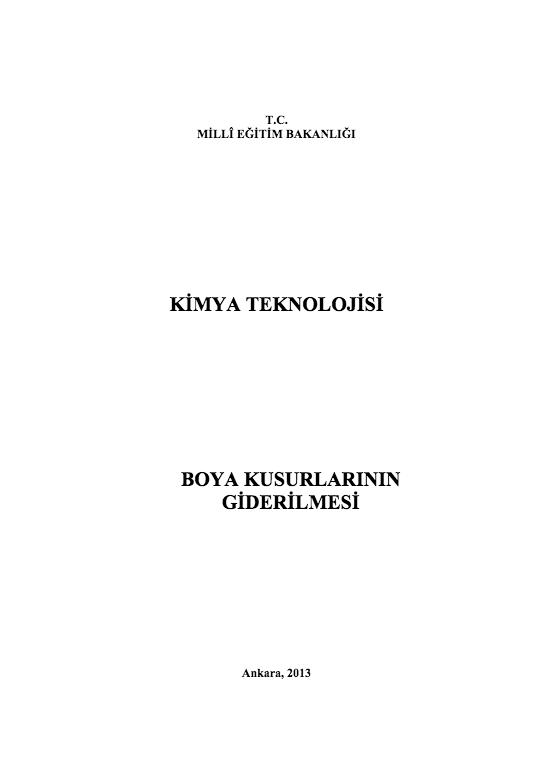 Boya Kusurlarının Giderilmesi ders notu pdf