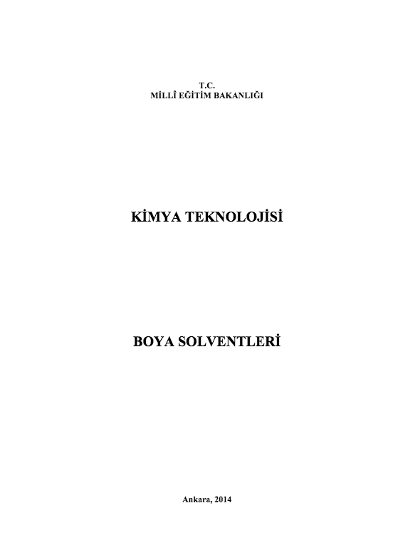 Boya Solventleri ders notu pdf