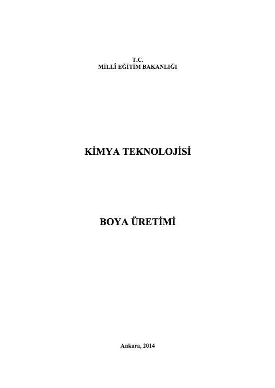 Boya Üretimi ders notu pdf