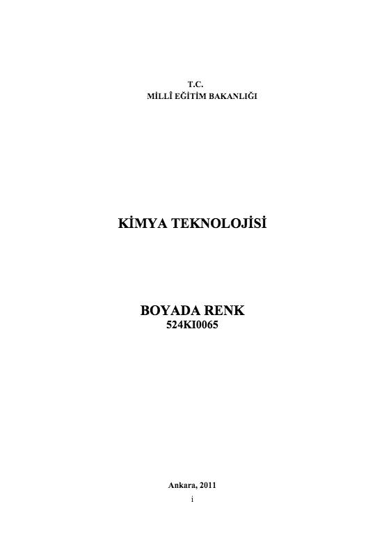 Boyada Renk ders notu pdf