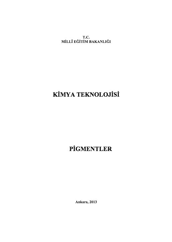 Pigmentler ders notu pdf
