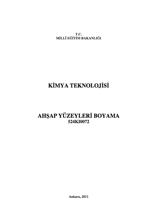 Ahşap Yüzeyleri Boyama ders notu pdf