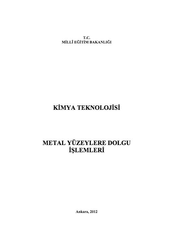 Metal Yüzeylere Dolgu İşlemleri ders notu pdf