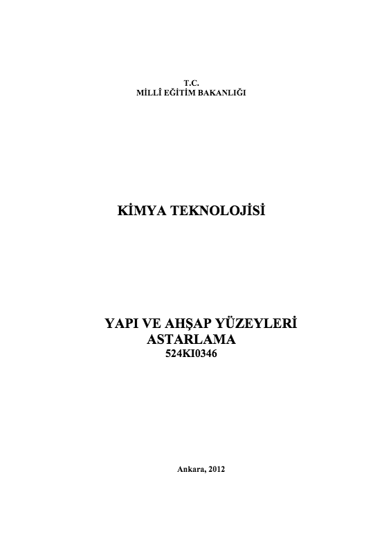 Yapı ve Ahşap Yüzeyleri Astarlama ders notu pdf