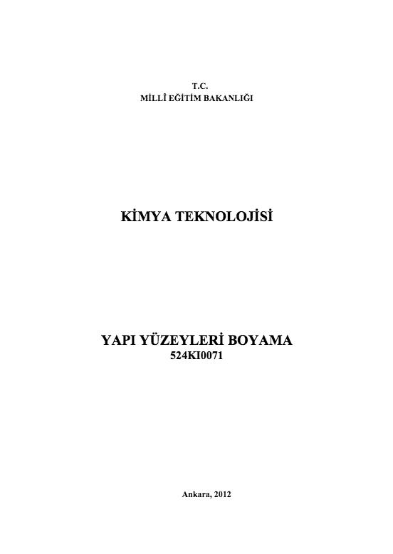 Yapı Yüzeyleri Boyama ders notu pdf