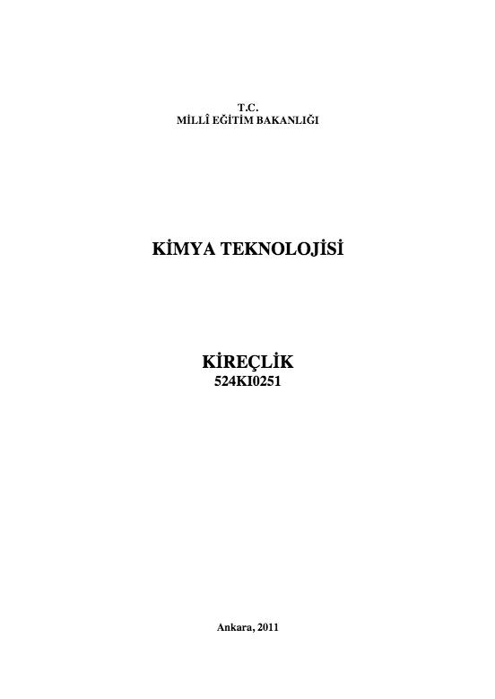 Kireçlik ders notu pdf