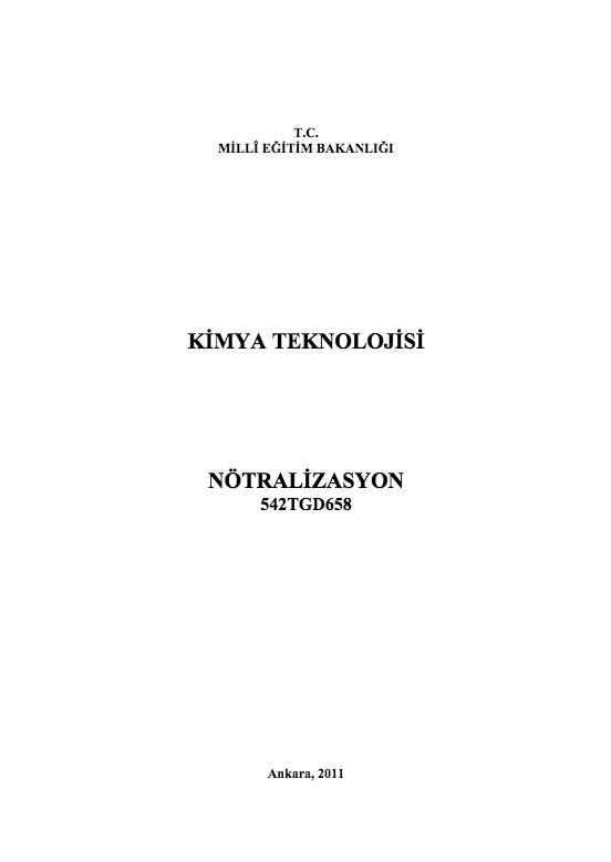Nötralizasyon ders notu pdf