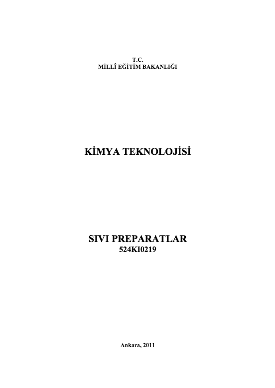 Sıvı Preparatlar ders notu pdf