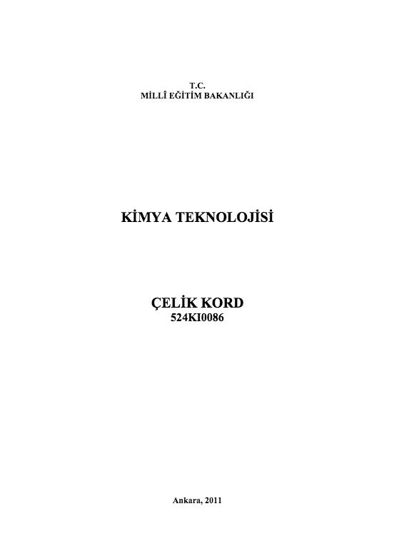 Çelik Kord ders notu pdf