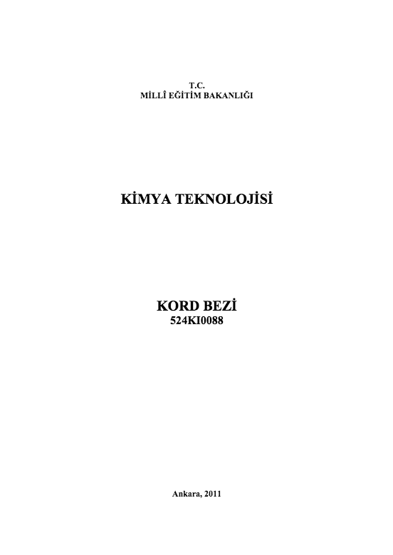 Kord Bezi ders notu pdf