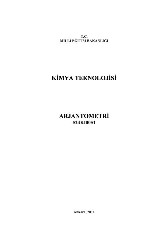 Arjantometri ders notu pdf