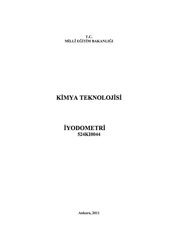 İyodometri ders notu pdf