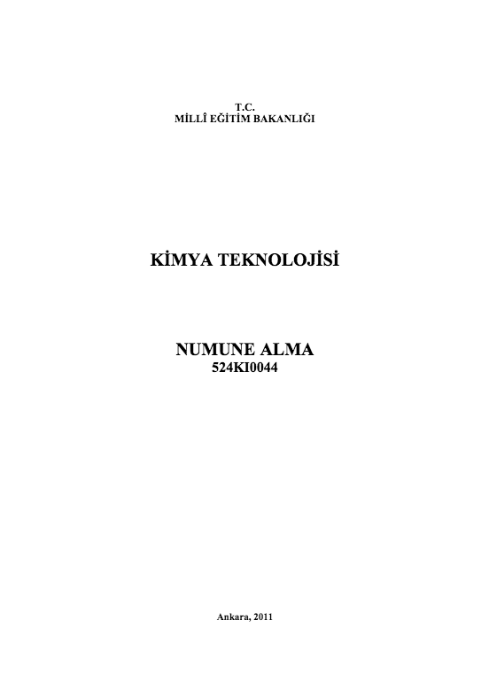 Numune Alma ders notu pdf