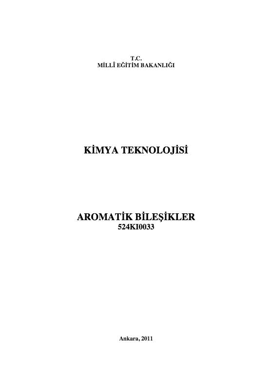 Aromatik Bileşikler ders notu pdf