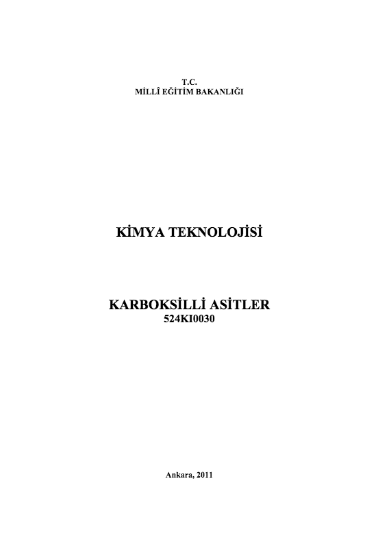 Karboksilli Asitler ders notu pdf