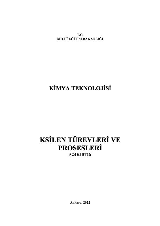 Ksilen Türevleri Ve Prosesleri ders notu pdf