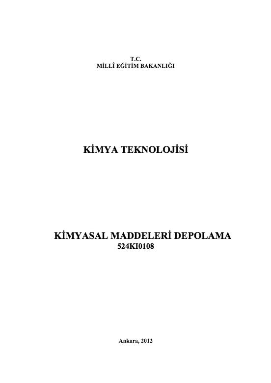 Kimyasal Maddeleri Depolama
