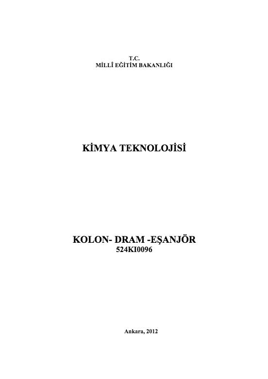 Kolon-dram- Eşanjör