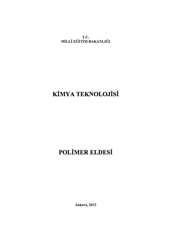 Polimer Eldesi