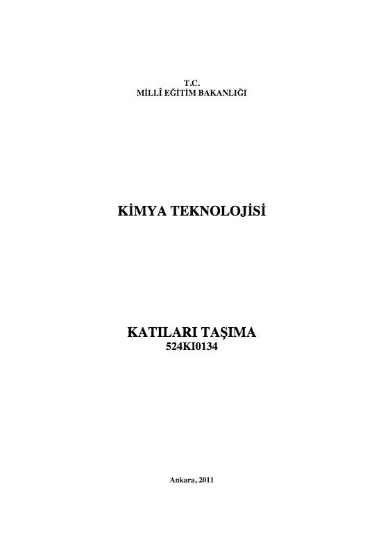 Katıları Taşıma ders notu pdf