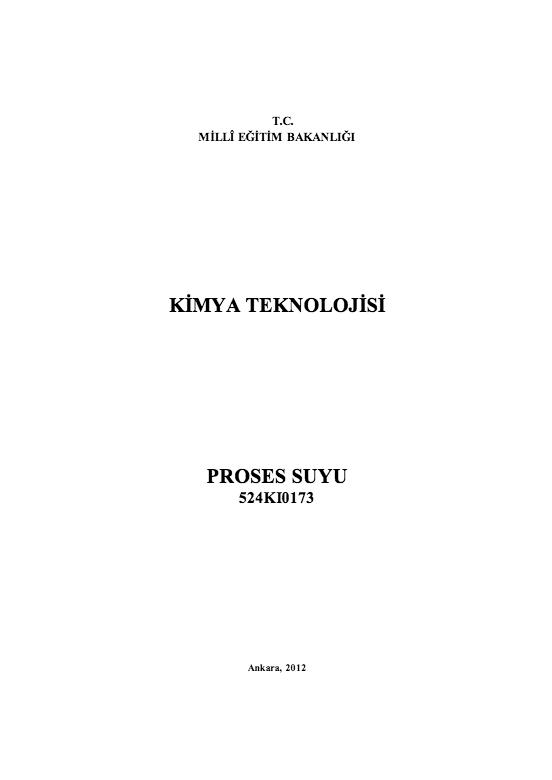 Proses Suyu ders notu pdf