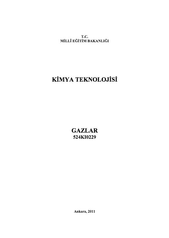 Gazlar ders notu pdf